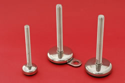Adjustable feet - all stainless with rubber bases