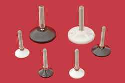 Adjustable Levelling feet - 10mm diam. stem with plastic base