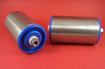 Conveyor roller - 50mm stainless steel self supporting, fixed length