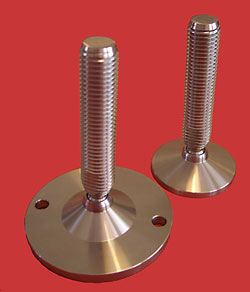 Adjustable Levelling feet - All stainless with 16mm diam. stem