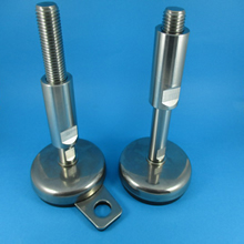 Hygienic Stainless rubber base pad Coved Thread